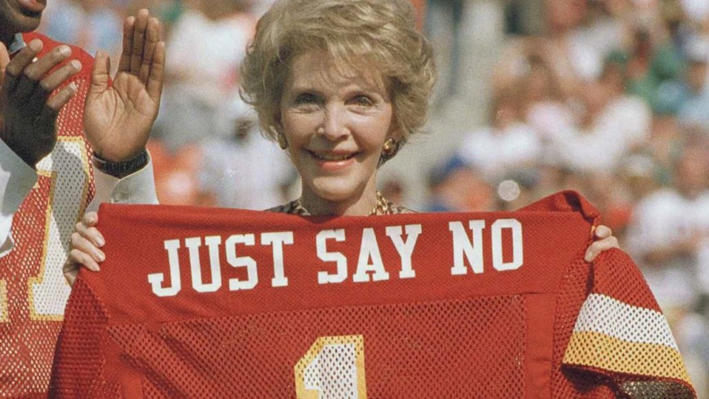 "Nancy Reagan e il suo progetto""Just Say No"""
